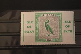 Isle Of Soay; Isle Of Skye; EUROPA 1966, Gezähnt, MNH; Lesen - European Ideas