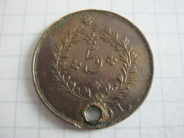 Azores 5 Reis 1901 - Azores