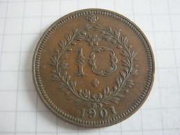 Azores 10 Reis 1901 - Azores