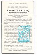 DP Leontine Louf ° Vlamertinge Ieper 1864 † 1947 X Julien Goeman - Santini