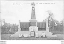 HEM LE MONUMENT AUX MORTS DE LA GRANDE GUERRE 1923 TBE - Andere Gemeenten
