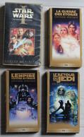 4 Cassettes Vidéos VHS Collector STAR WARS La Guerre Des étoiles L'empire Contre Attaque Retour Du Jedi Menace Fantôme - Collections & Sets