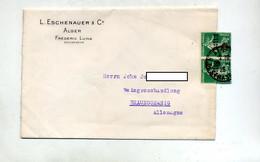 Lettre Cachet Sur Semeuse Surchargé Algerie - Covers & Documents