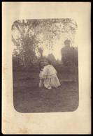 Fotografia Antiga: Crianças Num Jardim. Old Photo PORTUGAL 1900s - Ancianas (antes De 1900)