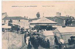 Cpa 79 Courlay Assemblée Avec Manège - Sonstige Gemeinden