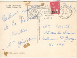 25f / 50c MARIANNE BEQUET CARTE POSTE AVION FRANCE 4/12/73 - Storia Postale