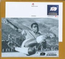 Soccer. Player Matateu At Salésias Stadium, Lisbon. Postcard Stationery 100 Years Belenenses. Fußball. Stadiiun. Footbol - Covers & Documents