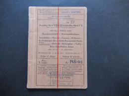 Schweden 1939 Rundtur T2 Bodens Central Nordisk Rundresetrafik Rundreise Ticket Ab Stockholm Zug / Schiff?? - Europe