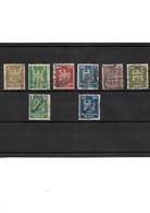 1212 ALLEMAGNE République De Weimar Lot De 8 Timbres 1924 -26 YT 348 à 353 Oblitérés - Usati