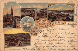 ARENDAL AGDER SORLANDET NORWAY-1902 MULTI IMAGE PHOTO POSTCARD 51063 - Norway