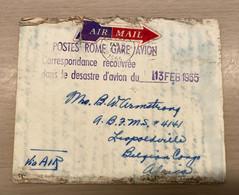 Belgisch Congo- Congo Belge  LP Crashmail 13/2/1955  DC 6 Rietti Rare-zeldzaam !! - Airmail: Covers