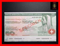 Switzerland  50 Francs  Travellers Cheque   Specimen   UNC- - Switzerland