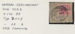 "2 058 Briefstück Bahnpost ""WERDAU-SEELINGSTADT"" 1897 - Usados"