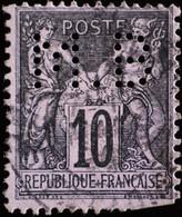 -Sage N°103   ( N S B ) Type III  Ob  ( CAD ) Perforé M.B. - 1898-1900 Sage (Tipo III)