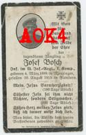 Comines WARNETON Bosch 1915 Flandern Kameradengrab Langemark Munzingen Sterbebild Carte De Deces Doodsprentje - 1914-18