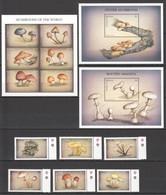 QQ829 ANTIGUA & BARBUDA FLORA MUSHROOMS #2551-62 MICHEL 25,3 EURO SET+KB+2BL MNH - Mushrooms