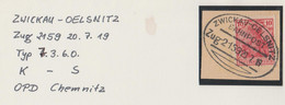 "2 062 Briefstück Bahnpost ""ZWICKAU-OELSNITZ"" 1919 - Usados"