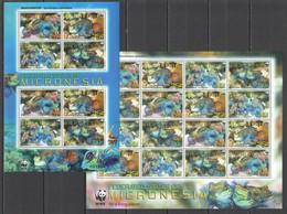Y306 2009 MICRONESIA WWF FISH & MARINE LIFE MANDARINFISH #2052-5 !!! MICHEL 30 EURO !!! 2SH MNH - Otros