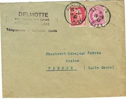 DAGUIN DOUBLE DE SENLIS SUR LETTRE - Mechanical Postmarks (Other)