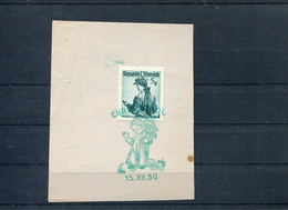 61532 Austria, Special Postmark 15.12.1950 Christkindl, Christmas Noel, Fragment Of Size  Cm 7,5x9,5 - RR - 1945-60 Cartas