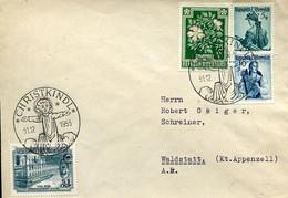 61534 Austria, Special Postmark 31.12.1953 Christkindl, Christmas Noel, On Circuled Cover As Scan - 1945-60 Cartas