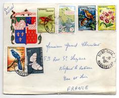 Madagascar--1964--Lettre Recommandée Illustrée De DIEGO-SUAREZ Pour NOGENT LE ROTROU-28 (France)-fleur,oiseaux,papillon, - Madagaskar (1960-...)