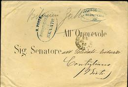 511 FRANCHIGIA POSTALE SENATO DEL REGNO 1877 - Storia Postale