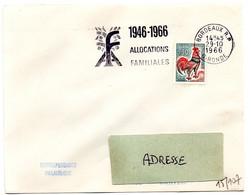 GIRONDE - Dépt N° 33 = BORDEAUX RP 1966 = FLAMME SUPERBE = SECAP ' 1946 - ALLOCATIONS FAMILIALES ' - Annullamenti Meccanici (pubblicitari)