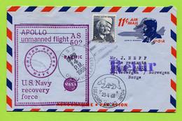USA, 1968,   Space, Espace,  Apollo-6, / AS 502  , USS Okinawa (LPH 3) - United States