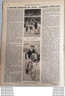 1922 CYCLISME - L'HOMME SPORTIF DU JOUR - GABRIEL POULAIN - 1900 - 1949