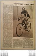 1922 TOUR DE FRANCE - FIRMIN LAMBOT - JEAN ALAVOINE - SAUT EN HAUTEUR - MEETING DE BOULOGNE - VOL A VOILE - LONGUE PAUME - Non Classificati