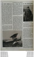 1922 VOL A VOILE - MANEROL - NATATION FRANCAISE - STADE BERGEYRE - TABLEAU RESULTATS SPORTIF 1922 - AVIATION MILITAIRE - Non Classificati