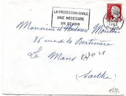GIRONDE - Dépt N° 33 = BORDEAUX RP 1963 = FLAMME SECAP  ' PROTECTION CIVILE / NECESSITE / DEVOIR ' - Annullamenti Meccanici (pubblicitari)
