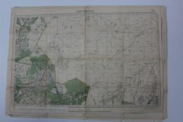 ARENDONK   OUDE STAFKAART  1:40.000    JAREN  1910 A 1920  2 SCANS - Arendonk
