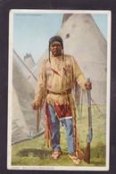CPA Indien Non Circulé Chef Ethnic Bull's Head Gros Ventre - Native Americans