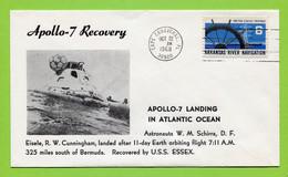USA, 1968,   Space, Espace,  Apollo-7,   Splahdown - United States
