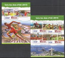 TG103 2015 TOGO TOGOLAISE SPORT SUMMER OLYMPIC GAMES 2016 BRAZIL RIO KB+BL MNH - Verano 2016: Rio De Janeiro