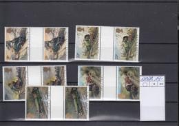 Grosbritanien Michel Cat.No. Gutter Pair Mnh/** 1017/1021 - Unused Stamps
