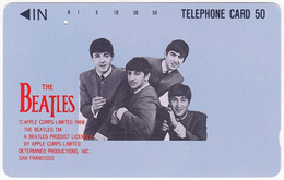 JAPAN P-468 Magnetic NTT [110-38735] - Musicians, The Beatles - Used - Japón