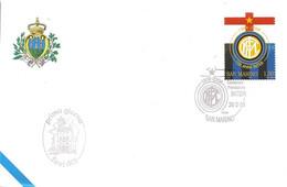 SAN MARINO - 2008 INTER Campione Di Calcio Su Busta Fdc Azienda Autonoma Stato Filatelica Numismatica- 4000 - Equipos Famosos