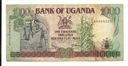 Uganda 1000 Shillings 1991 VF+ - Uganda