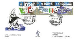 SAN MARINO - 2010 INTER 3 Volte Campione Calcio (Coppa Italia, Campionato, Campione Europa) Su Busta Fdc Venetia - 4003 - Equipos Famosos