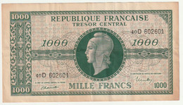 Billet De 1000 Francs Trésor - Marianne - Bon état - 1943-1945 Marianne