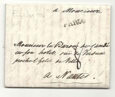 BARON DE CANDE - LAC De Paris. MP Paris à L'infini. LAC De 1776. DERNIER BARON DE CANDE Avant La Révolution - 1701-1800: Precursori XVIII