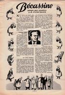 Une Page Souvenir De 1953 Avec Becassine Qui Pleure Son Créateur J.P. PINCHON. - Bécassine