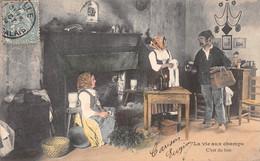 Cpa 1905 LA VIE AUX CHAMPS C'est Du Bon Vin Paysan Fermières Intérieur De Ferme Sabots ▬ Série B Dugas Et Cie (¬‿¬) ♥ - Fermes