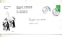 Lettre Cachet Erce Entete Mairie Illustré Ours - Handstempels