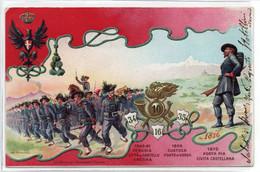 10 REGGIMENTO BERSAGLIERI - VIAGGIATA - Regimenten