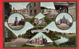 LANCASHIRE   GREAT HARWOOD   MULTI VIEW Inc RAILWAY STATION - Other