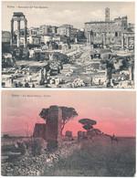 2c.914.  ROMA - Lotto Di 8 Cartoline - Ediz. Brunner - Panoramic Views